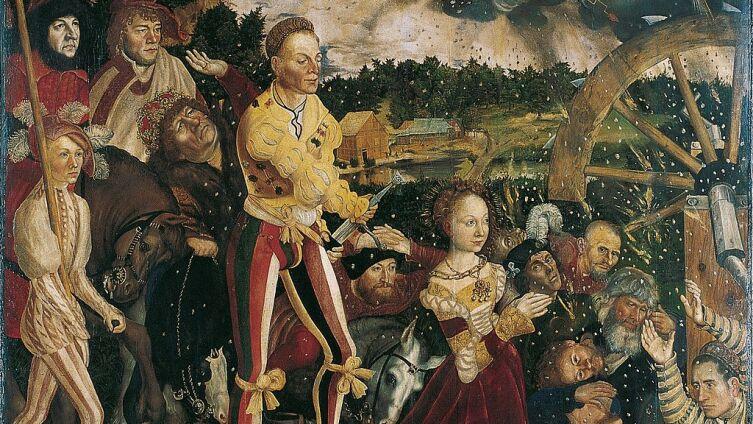 Лукас Кранах Старший, алтарь св. Екатерины, центральная часть: «Мученичество св. Екатерины», 1506 г.