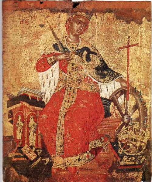 Святая Екатерина, икона XVII век