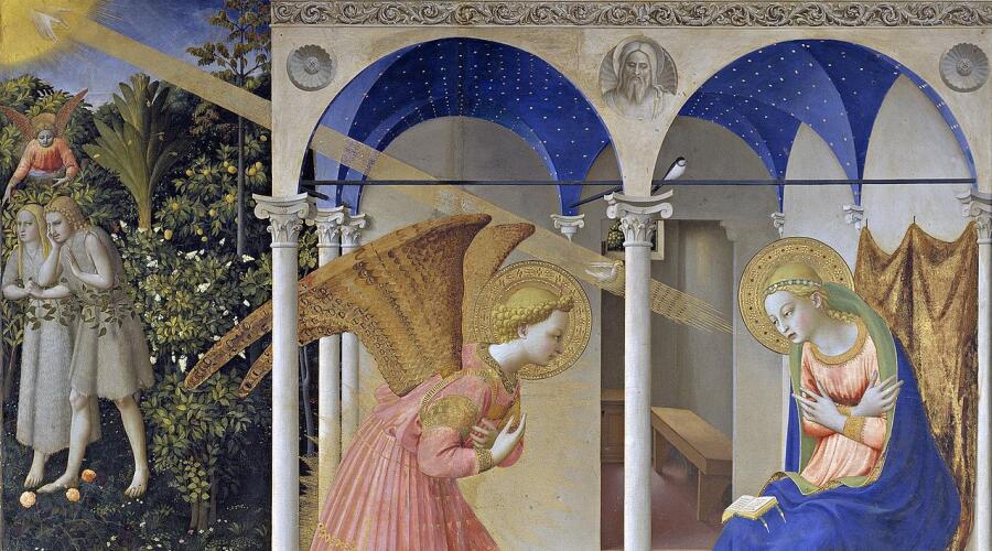 Фра Беато Анджелико, «Благовещение» (фрагмент), 1430—1432 гг.