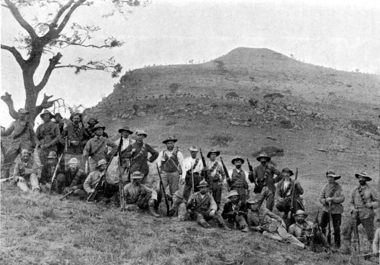 Бурские стрелки во время битвы за Спион-Коп