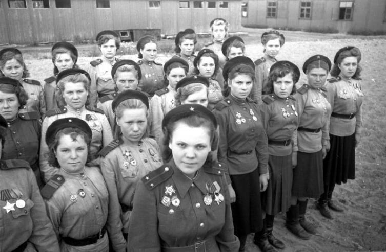 Женская рота снайперов 3-й ударной армии 1-го Белорусского фронта