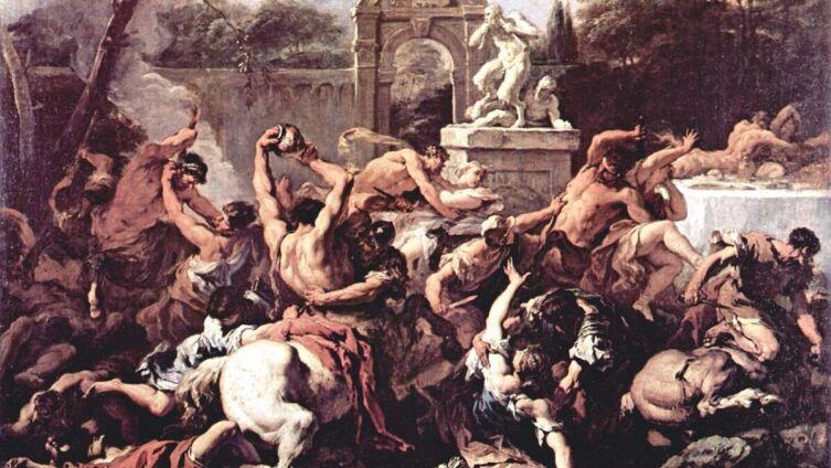 Себастьяно Риччи, «Битва кентавров с лапифами»