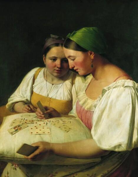 А. Г. Венецианов, «Гадание на картах», 1842 г.