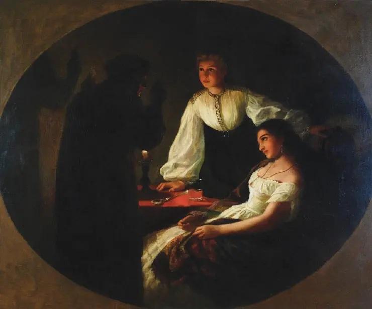 Г. И. Семирадский, «Ночь святого Андрея. Ворожба», 1867 г.
