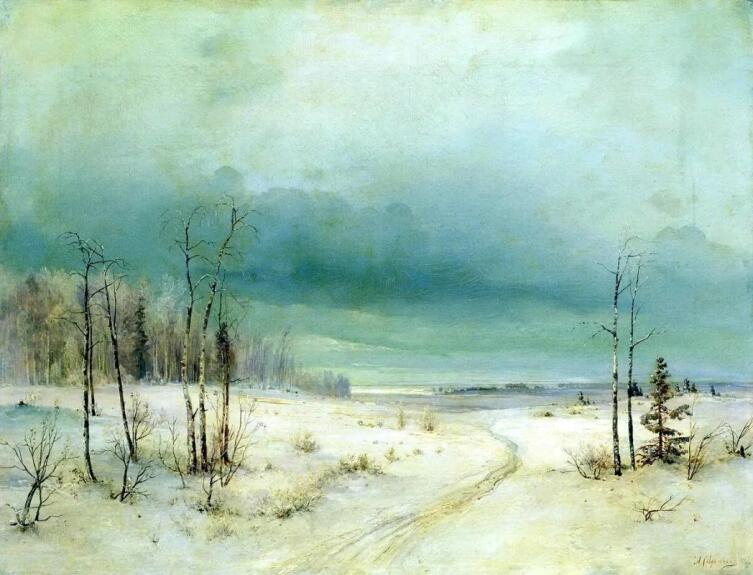 А. К. Саврасов, «Зима», 1880-е гг.