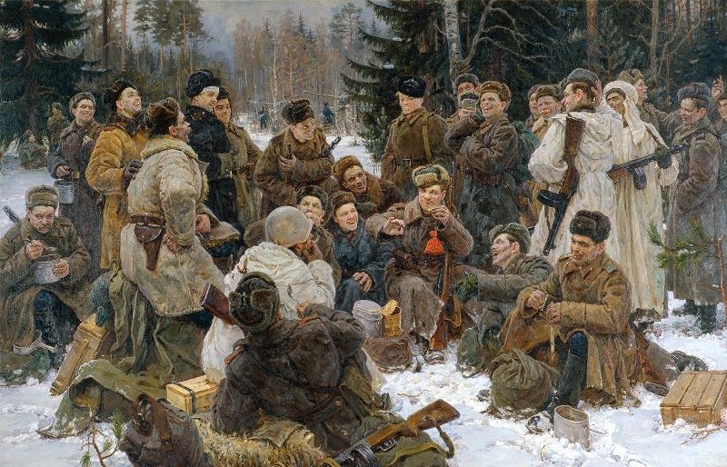 Ю. М. Непринцев, «Отдых после боя», 1955 г.