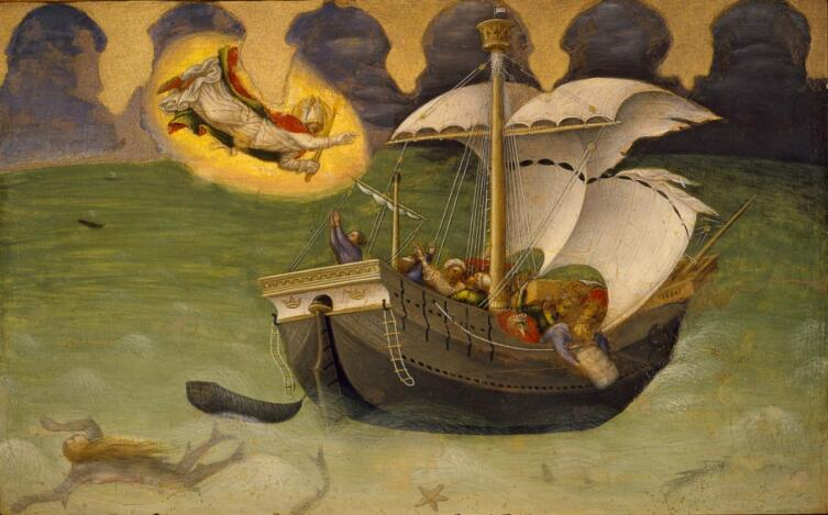 Джентиле да Фабриано, «Алтарь Святого Николая. Спасение моряков», ок. 1425 г.
