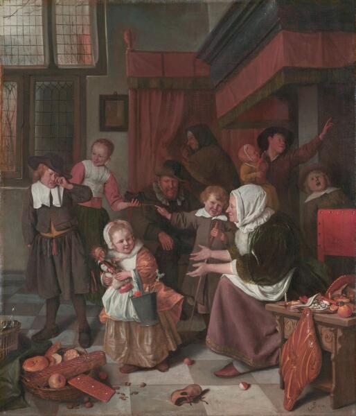 Ян Стен, «Праздник Святого Николая», 1668 г.