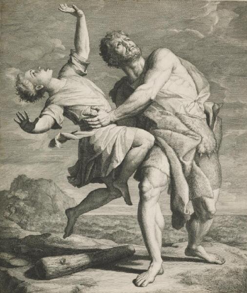 Хендрик ван Лимборх, «Геракл и Лихас», 1706г.(Геракл и Лихас перед броском в небо)