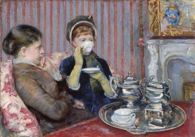 Мэри Кассат, «Чаепитие», 1880 г.