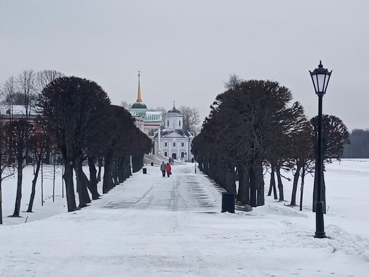 Парк Кусково зимой