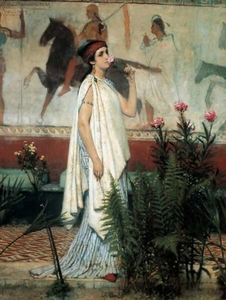 Лоуренс Альма-Тадема, «Гречанка», 1869 г.