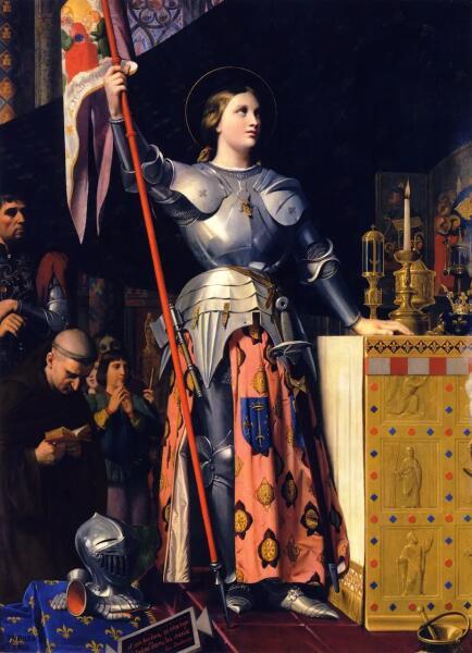 Жан Огюст Доминик Энгр, «Жанна Дарк на коронации Карла VII в Реймском кафедральном соборе в 1429 году», 1854 г.