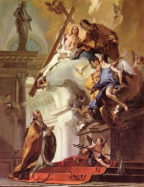 Джованни Баттиста Тьеполо, «Папа Климент I, молящийся Троице», 1738 г.