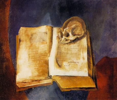 В. Е. Татлин, «Череп на раскрытой книге», 1950 г.
