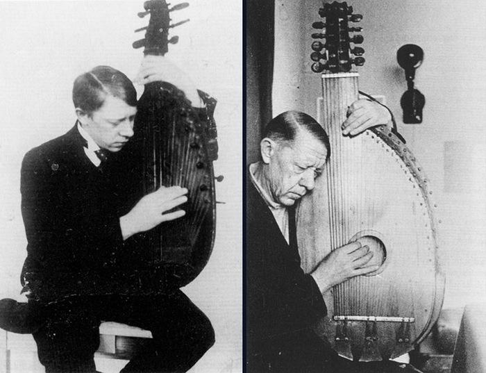 В. Татлин с бандурой в 1911 г. и в 1940-е гг.