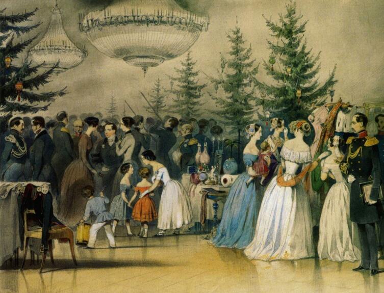 А. Ф. Чернышев, «Рождественская ёлка в Аничковом дворце»