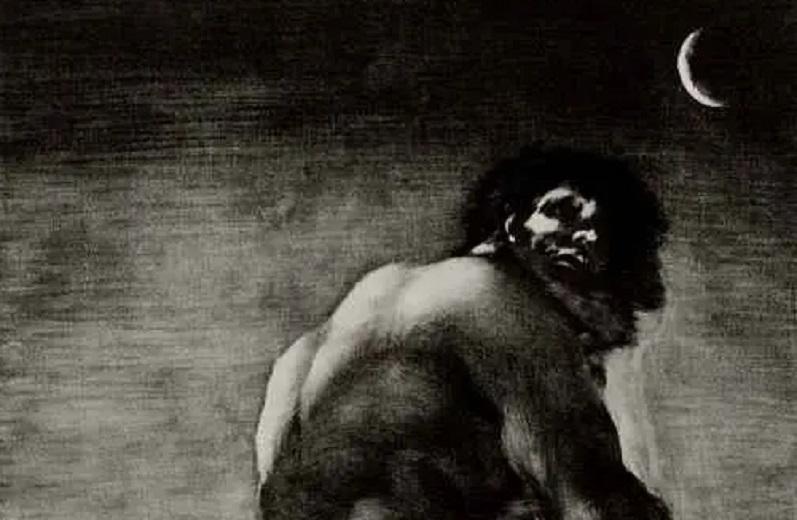 Франсиско Гойя, «Колосс» (фрагмент), 1820 г.