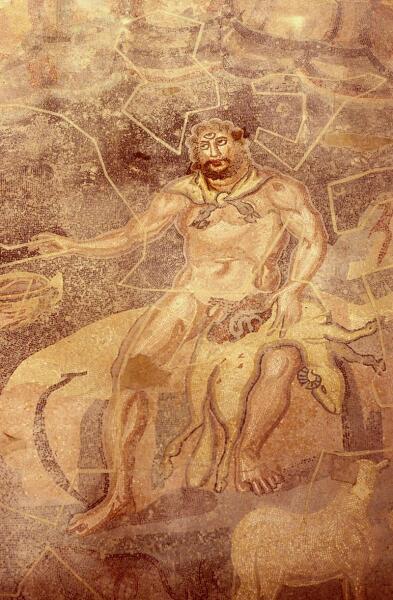 Полифем. Римская мозаика из Вилла дель-Касале близ Пьяцца-Армерина (Сицилия). IV в. н. э.