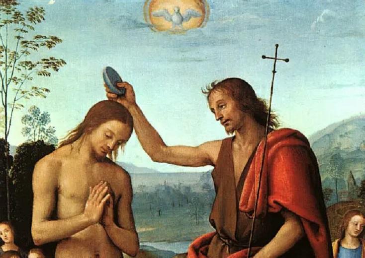 Пьетро Перуджино, «Крещение Господне» (фрагмент)