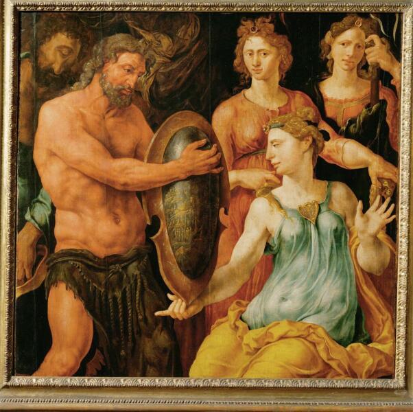 Мартен ван Хемскерк, «Фетида принимает щит Ахилла от Вулкана», 1536 г.