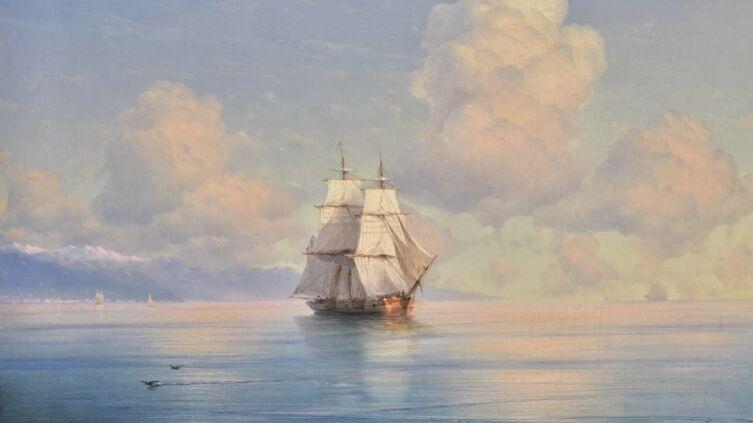 И. К. Айвазовский, «Корабль у побережья», 1874 г.