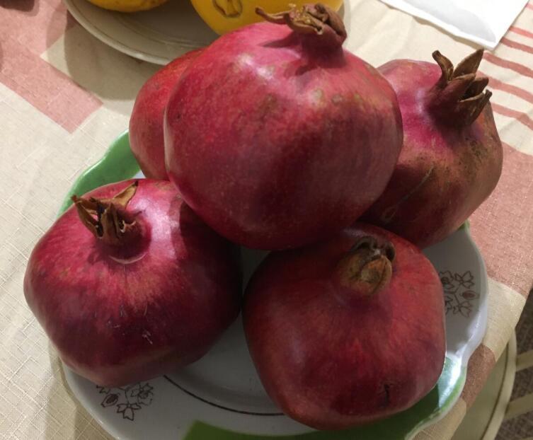 Плоды граната на столе