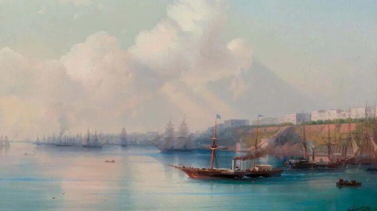 И. К. Айвазовский, «Вид на порт Одессы с морскими судами», 1867 г.
