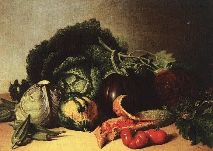 Джеймс Пил, «Натюрморт с капустой», 1848 г.