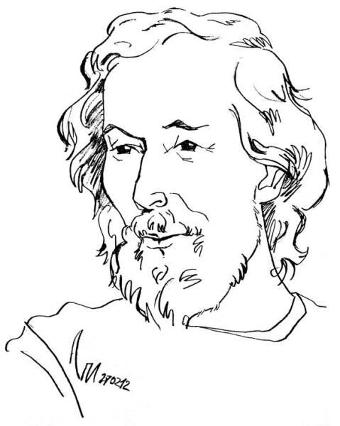 Портрет Владимира Летучего работы художника Леонида Петрушина