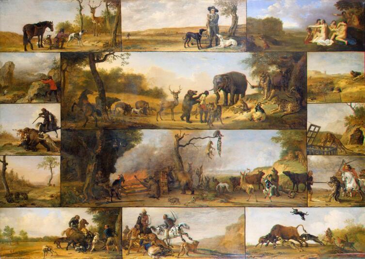 Паулюс Поттер, «Казнь охотника», 1647 г.