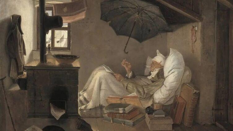 Карл Шпицвег, «Бедный поэт», 1839 г.