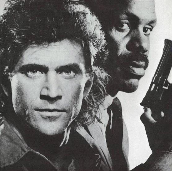 Постер (фрагмент) к к/ф «Смертельное оружие», 1987 г.