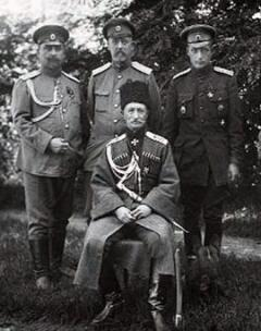 Генерал Брусилов с сыном и офицерами штаба фронта
