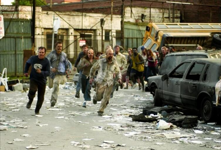 Кадр из к/ф «Рассвет мертвецов», 2004 г.