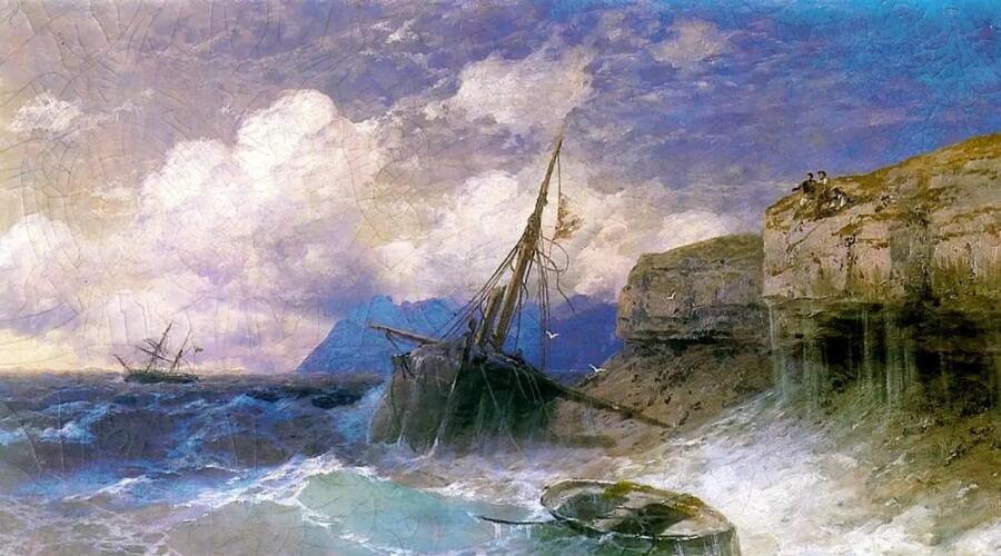 И. К. Айвазовский, «Буря у берегов Одессы», 1898 г.