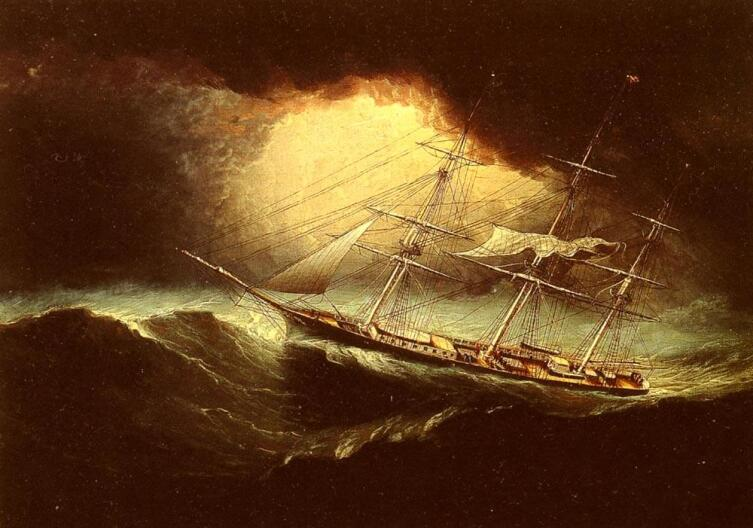 Джеймс Баттерсворт, «Парусник во время шторма»