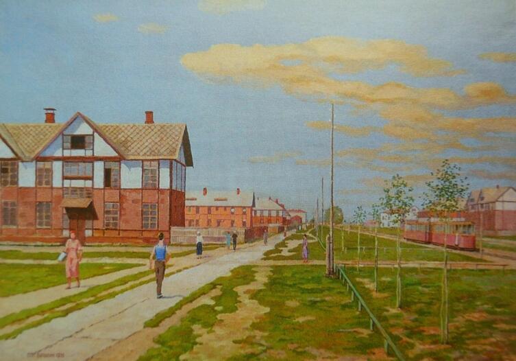 С. П. Бурылин, «Первый Рабочий посёлок в Иваново», 1935 г.