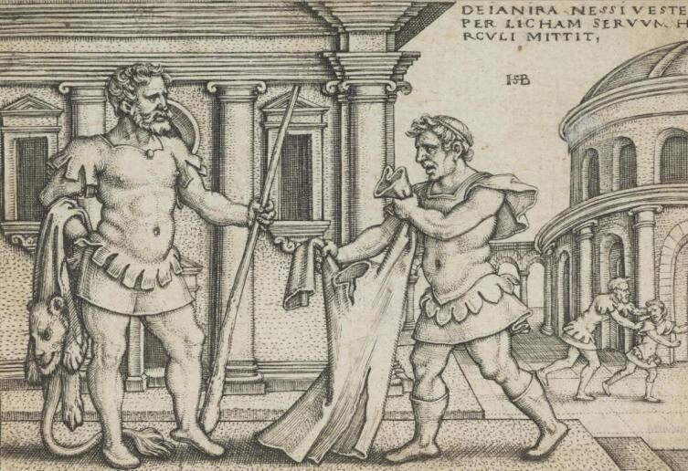 Ханс Зебальд Бехам, «Лихас передает Гераклу тунику кентавра»