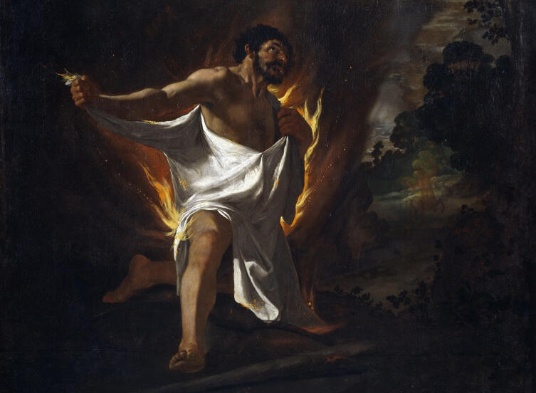 Франсиско де Сурбаран, «Смерть Геракла», 1634 г.