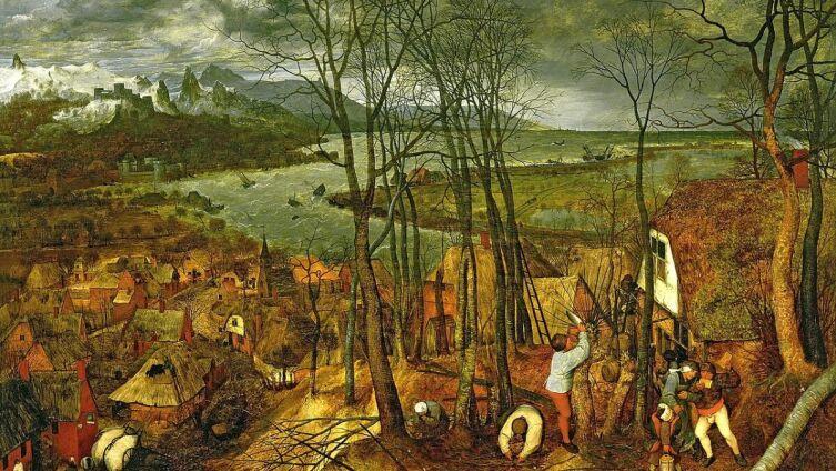Питер Брейгель Старший, «Сумрачный день. Цикл «Времена года». Февраль и ранняя весна», 1565 г.