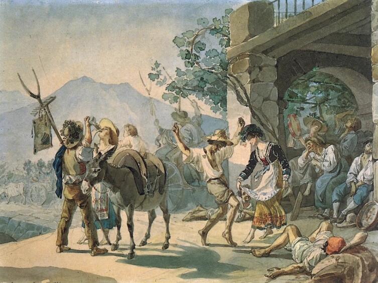 К. П. Брюллов, «Праздник сбора винограда», 1827 г.
