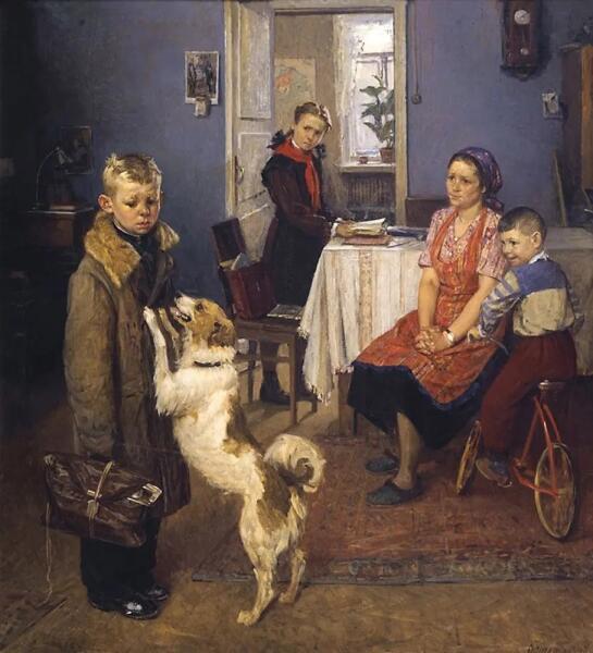 Ф. П. Решетников, «Опять двойка», 1952 г.