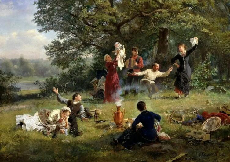 А. И. Корзухин, «Воскресный день», 1884 г.