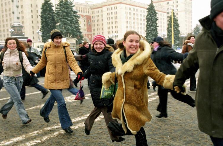 Студенты МГУ в Татьянин день