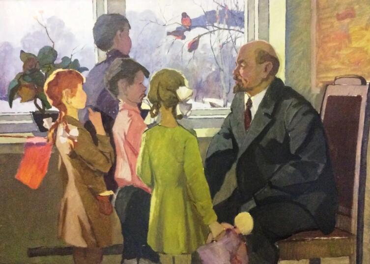 Ю. Д. Петров, «Ленин и дети», 1960-е гг.