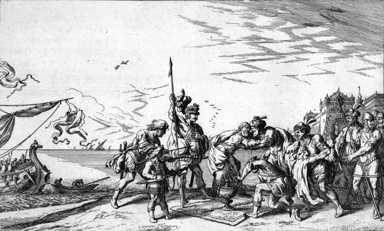 Ян Вильгельм Баур, «Аний встречает Энея», иллюстрация к «Метаморфозам» Овидия, 1659 г.