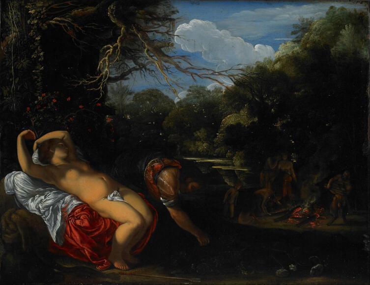 Адам Эльсхаймер, «Аполлон и Коронида», 1608 г.