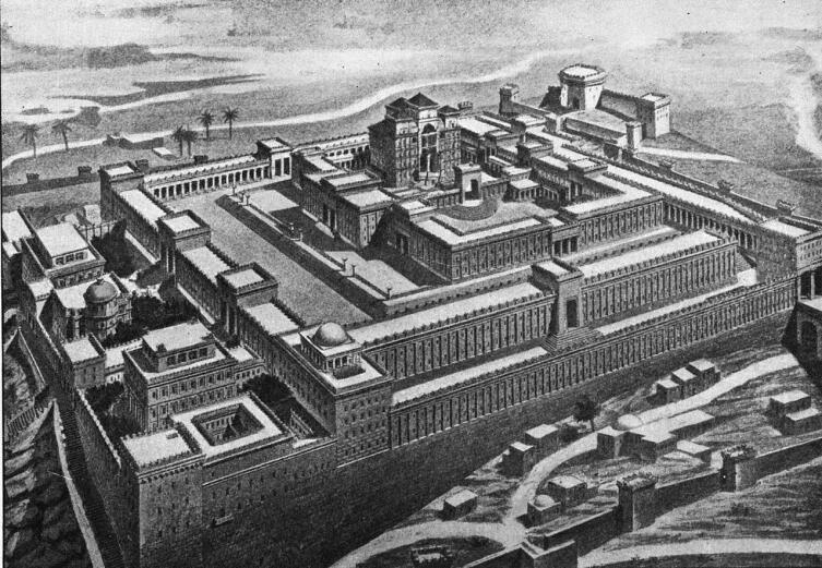 Идеализированная реконструкция Храма, построенного при царе Соломоне в Иерусалиме