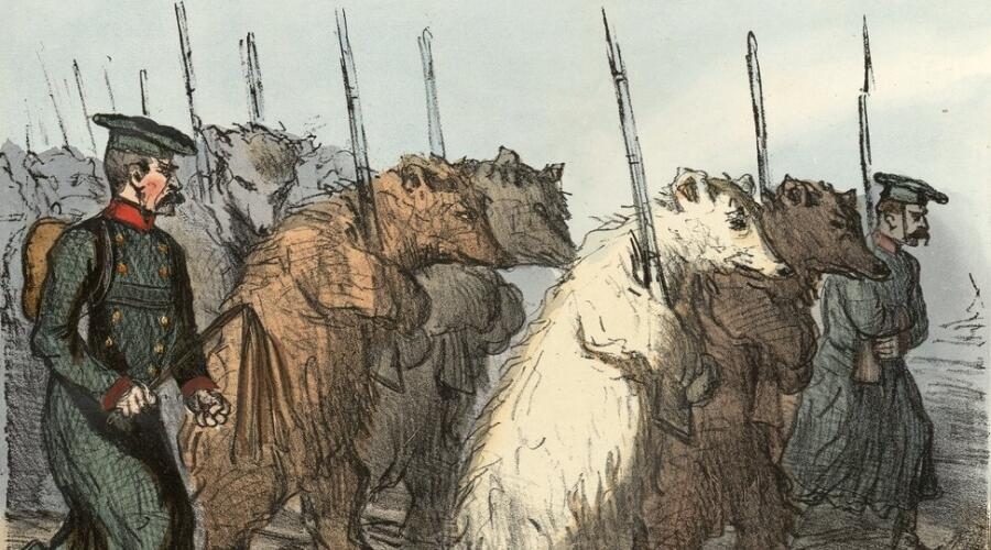 Оноре Домье, «Армейские резервы российского императора»
